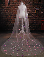 Wedding Veil Two-tier Cathedral Veils Cut Edge Tulle Ivory