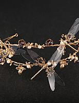 Vrouwen Bergkristal / Kristallen / Messing / Licht Metaal / Imitatie Parel / Kunststof Helm-Bruiloft / Speciale gelegenheden Tiara's1