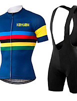 KEIYUEM® Summer Cycling Jersey Short Sleeves + BIB Shorts Ropa Ciclismo Cycling Clothing Suits #K118
