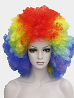 Afro Funs Wig Rainbow Color Circus Clown Fro Curly Unisex Halloween Adult Costume Wig