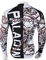 Deportes Bicicleta/Ciclismo Tops Hombres Mangas largas Transpirable / Resistente a los UV / Reductor del Sudor Coolmax Letra y Número Gris