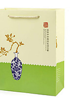 [Manufacturers] Shelf White Card Gift Boutique Upscale Tea Roses Green Tea Packaging Bag A Green Bag Five