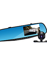 Jian Yang JX78 1080P HD Dual Lens 4.3 inch rearview mirror and recorder car camera parking system