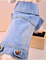 Dog Jeans Multicolored Winter Jeans Keep Warm, Dog Clothes / Dog Clothing