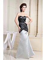 Formal Evening Dress Trumpet / Mermaid Sweetheart Floor-length Charmeuse with Side Draping