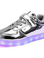 Фиолетовый / Серебристый / Золотистый-Для девочек-Для занятий спортом-Лакированная кожа-На плоской подошве-Удобная обувь-Кеды