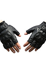 PU Gloves Half Finger Sport Riding An Exercise Bike Motorcycle Outdoor Combat Gloves Dumbbell Training