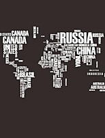Hot PVC Wall Stickers Letter World Map Quote Removable Vinyl Decal Mural Home Decor Stickers