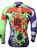 Sportivo Bicicletta/Ciclismo Top Per uomo Maniche lunghe Traspirante / Resistente ai raggi UV Coolmax Di tendenza BluS / M / L / XL / XXL