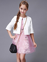 Girl's Casual/Daily Print Dress,Cotton / Polyester Spring Pink