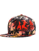 Hip Hop Women Men Street Dance Coco Tree Print Adjustable Patchwork 3D Baseball Cap