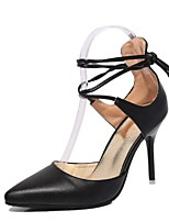 Women's Heels Spring / Summer / Fall Heels / Pointed Toe Leatherette Dress Stiletto Heel Lace-up Others