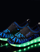 Boy's Sneakers Spring / Fall Comfort / Round Toe Fabric Outdoor Flat Heel Magic Tape / LED Black / Blue Sneaker