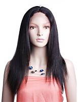 100% индийский человек девственные волосы 10-26 дюймов естественный цвет естественный прямой полный парик шнурка с волосами младенца