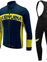 KEIYUEM®Spring/Summer/Autumn Long Sleeve Cycling Jersey+long Bib Tights Ropa Ciclismo Cycling Clothing Suits #L72