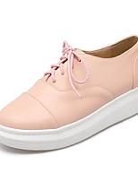 Mujer-Plataforma-Confort / Punta Redonda / Bailarinas-Zapatillas de deporte-Oficina y Trabajo / Vestido / Casual-Semicuero-Negro / Rosa /