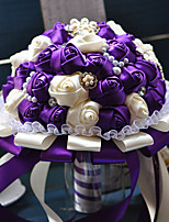 Wedding Flowers Round Roses Bouquets Wedding Satin