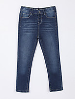 Girl's Casual/Daily Solid Pants,Cotton Fall Blue