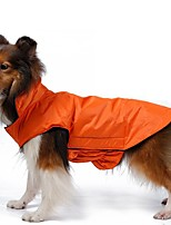 Autumn and Winter Black/Red/Blue/Yellow/Orange/Pink Waterproof Cotton Jacket for Medium and Large Pets Dogs