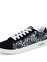 Men's Sneakers Spring / Fall Comfort Fabric Casual Flat Heel  Black / Blue Walking