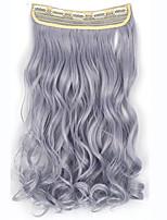 Clip em extensões de cabelo 120g 24inch 60 centímetros 5clips longo grampo de cabelo sintético em linha reta na extensão do cabelo