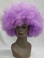 Afro Funs Wig Purple Circus Clown Fro Curly Unisex Halloween Adult Costume Wig