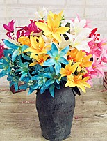 Hi-Q 1Pc Decorative Flowers Real For Wedding Home Table Decoration Lilies Artificial Flowers