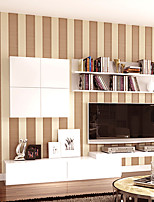 Stripe Wallpaper Non-Woven Flocking 3D Wallpapers For Walls Stripes Modern Stripes Wallpaper Roll