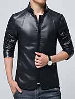 In the spring of 2016 new Korean men short Pu youth slim leather collar jacket Motorcycle Leather Men