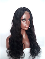 Evawigs 10-28 Inch Indian Virgin Human Hair Body Wave 1# Jet Black Color 130% Density Full Lace Wigs with Baby Hair