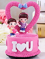 Fashion Rotating Resin Music Box Decoration for Valentine's Day and Birthday