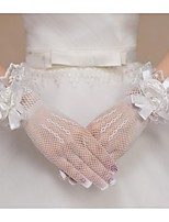 Wrist Length Fingertips Glove Net Bridal Gloves Spring / Summer / Fall Floral