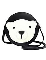 Women PU Casual Circular Stitching Cartoon Bear Shopping Shoulder  Key Holder Cosmetic Mobile Phone Bag