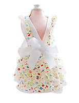 Cat / Dog Dress White Summer / Spring/Fall Bowknot Fashion, Dog Clothes / Dog Clothing-Petstyle
