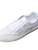 Femme-Décontracté-Noir / Blanc / Noir et blanc-Talon Plat-Confort-Sneakers-Tulle