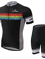 Men's Cycling Clothing Sets New Fashion Colorful Cycle Chain Pattern Bicycle Sports Comfortable Short Cycling Jersey