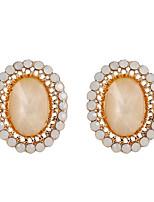 Fine Jewelry European Style High-Grade Charms Fashion Diamond Zinc Alloy Earrings