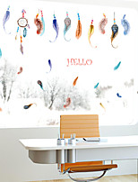 HELLO Bohemia Style Colorful Feather Wall Stickers Creative Fashion Living Room Wall Decals