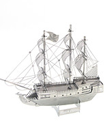 Jigsaw Puzzles 3D Puzzles Building Blocks DIY Toys Warship 1 Metal Silver Novelty Toy