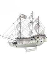Puzzles 3D - Puzzle Bausteine DIY Spielzeug Kriegsschiff 1 Metall Silber Neuheit-Spielzeug