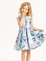 Girl's Casual/Daily Floral Dress,Cotton Summer White