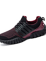 Men's Sneakers Spring / Fall Round Toe PU Athletic Flat Heel Others / Lace-up Yellow / Black and Red / Black and