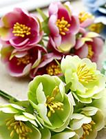 Hi-Q 1Pc Decorative Flower Hand Bouquet Camellia Wedding Home Table Decoration Artificial Flowers