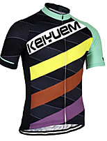 KEIYUEM® Cycling Jersey Unisex Short SleeveBreathable / Quick Dry / Ultraviolet Resistant / Front Zipper / Antistatic /