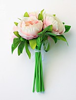 Hi-Q 1Pc Decorative Flower Hand Bouquet Peonies Wedding Home Table Decoration Artificial Flowers