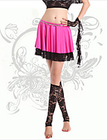 Belly Dance Bottoms Women's Training Milk Fiber Lace 1 Piece Fuchsia Belly Dance Sleeveless Natural Skirt