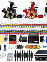 Solong Tattoo Beginner Tattoo Kit 2 Pro Machine Guns Power Supply Needle Grips Tips US Dispatch