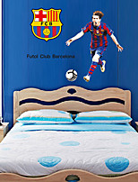 FCB Football Barca Lionel Messi People Wall Stickers Fashion Living Room Bedroom Wall Decals