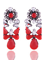 New Arrival 2016 Europe Style Retro Acrylic Resin Water Drop Shape Dangle Earrings For Women Party Jewelry