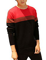 2016 new winter sweater Mens color stitching stylish cotton long sleeved sweater T-shirt youth tide